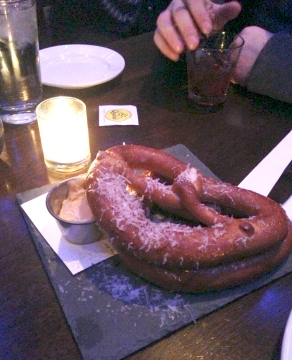 The oh-so-soft soft pretzel with housemade beer cheese.